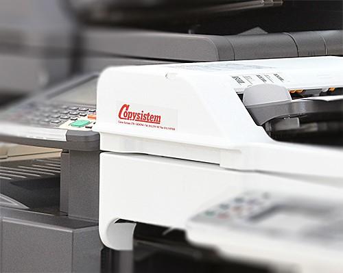 Logo Copysistem su fotocopiatrice